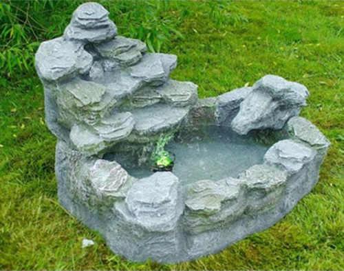 Velká zahradní kašna dokonalá imitace přírodního kamene