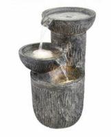 Harmonická fontána tři misky s osvětlením