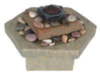 Meditační dekorační fontána s oblázky