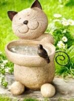 Pítko pro ptáky na zahradu Kočka