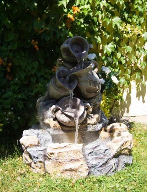 Relaxační zahradní kašna - fontána džbánky
