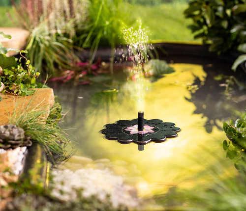 Solární fontánka do zahradního jezírka