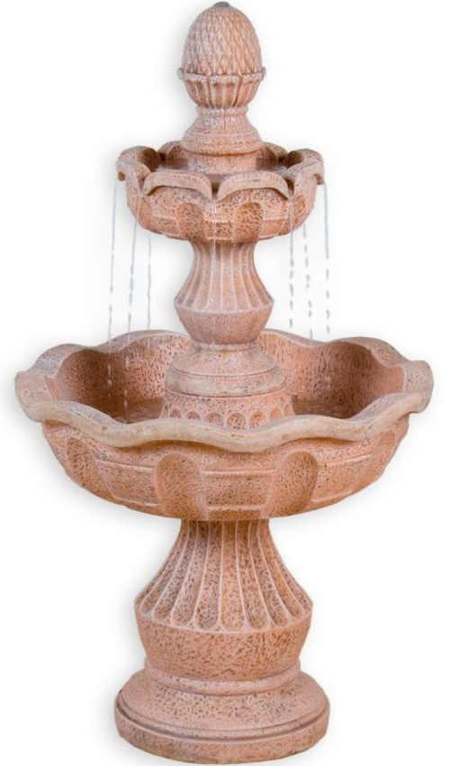 Terasovitá zahradní fontána z umělého kamene