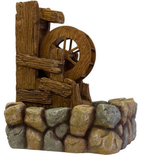 Zahradní fontána mlýnské kolo