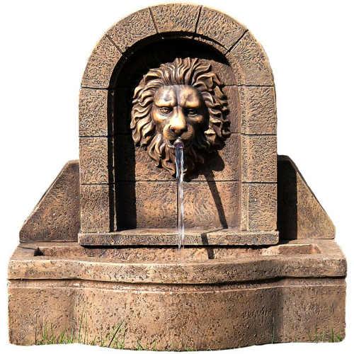 Zahradní fontána se lvem