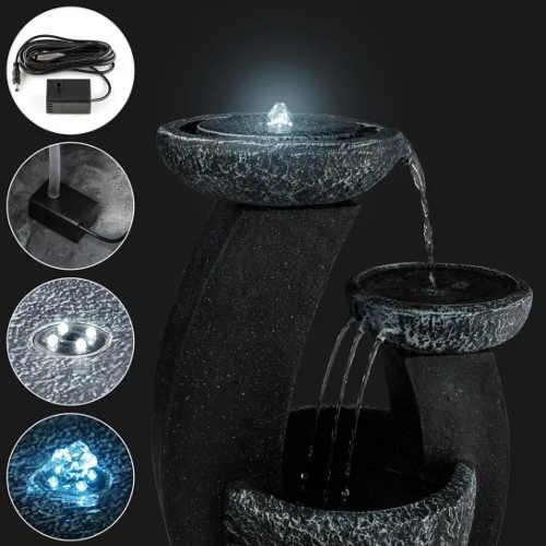 Zahradní fontána světelná hra