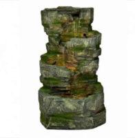 Zahradní kašna kaskáda vzhled starého kamene s mechem