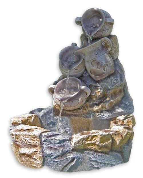 Zahradní kašna z imitace kamene polyresinu