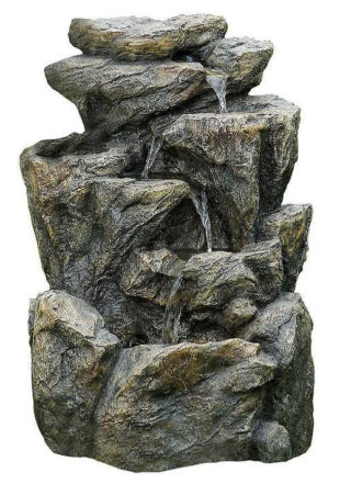 Menší kašna z umělého kamene dekorace do zahradní skalky