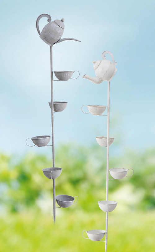 Zahradní zápich Ptačí pítko s konvičkou