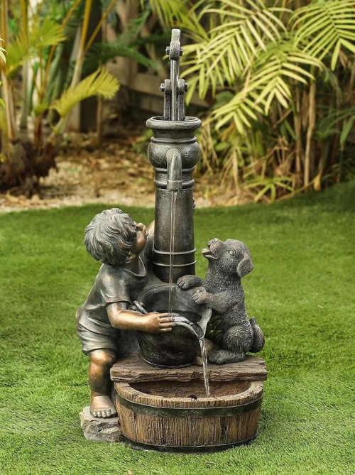 fontána zahradní zdobená Baumax