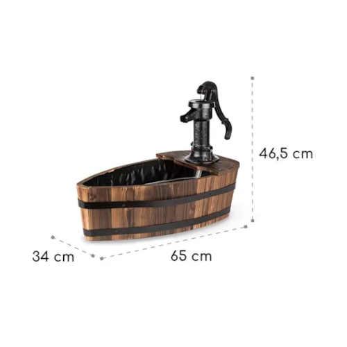studna ve tvaru loďky