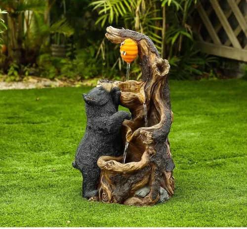 fontána Baumax medvěd do bytu i ven