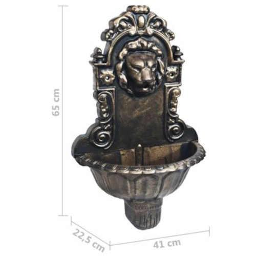 okrasná fontána se lví hlavou